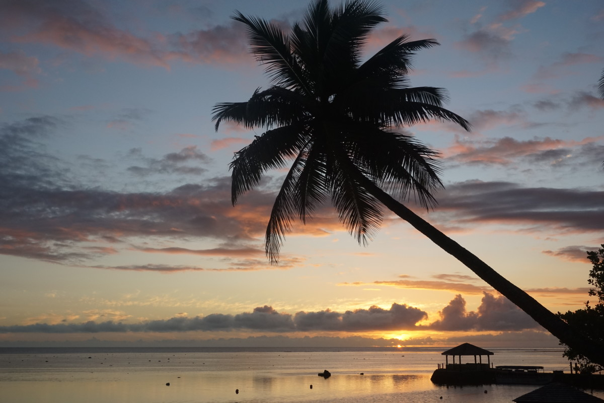 Sunset on the Coral Coast, Fiji.
